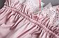 Пижама атласная женская розовая П112, фото 3
