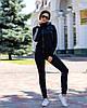 Стильный женский спортивный костюм с вставками из вязки: кофта с капюшоном и штаны, фото 9