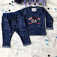 Синий костюм на мальчика Breeze 213. Размер 74 см (9мес), 80 см, 92 см (2 года), 98 см (3 года)