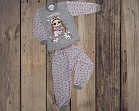 """Детская теплая пижама """"Кукла"""", футер, р.26-34"""