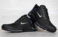40 РОЗМІР !!! Кросівки чоловічі зимові - черевики на хутрі чорні (ЮК-66чн)