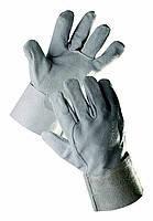 Перчатки-краги серые короткие ТС707