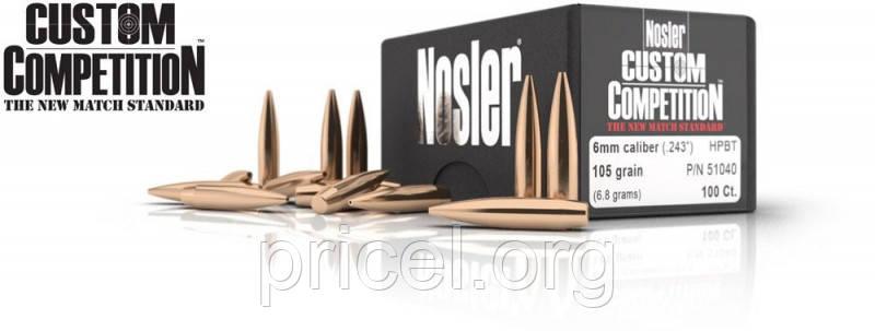 Пуля Nosler Custom Competition HPBT 6.5 мм 140 гр/9.07 грамм 100 шт. (13-26725)