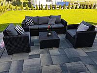Allibert California 3 Seater Set садовая мебель из искусственного ротанга, фото 1