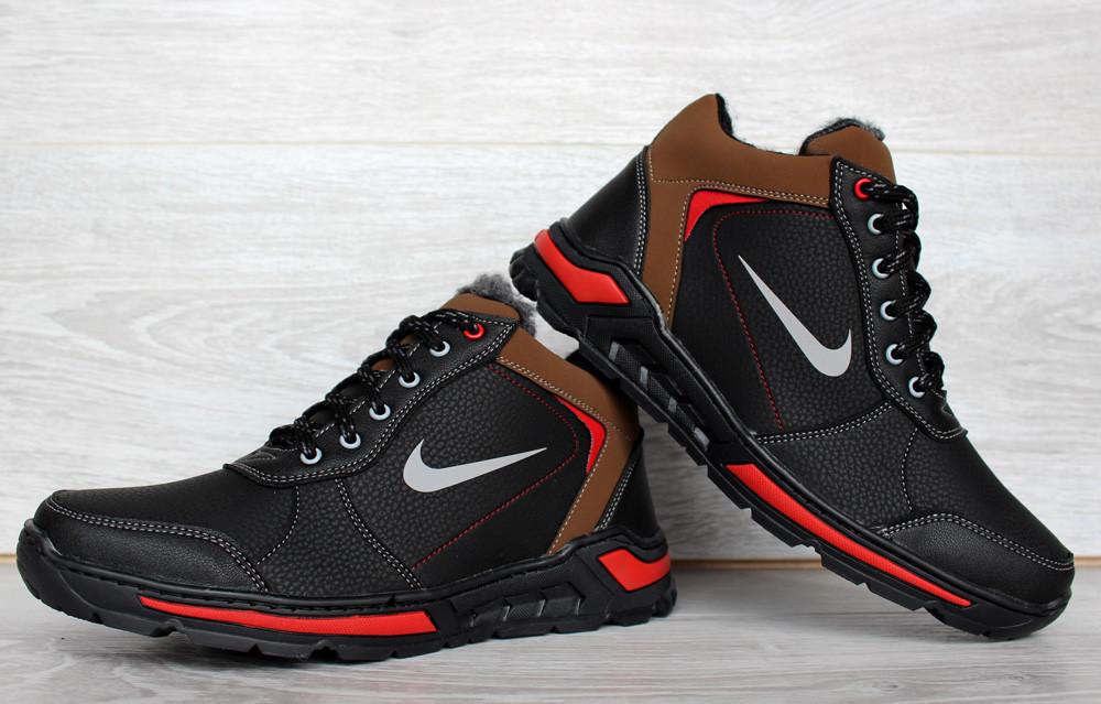 Яскраві кросівки зимові чоловічі черевики на хутрі (ЮК-66-2н)
