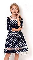 Платье нарядное для девочек Горох tm Mevis 2916 Размеры 122 - 146