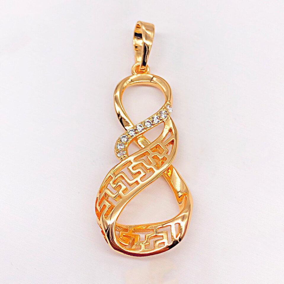 Кулон Xuping Jewelry Меандровые изгибы медицинское золото, позолота 18К. А/В 4214