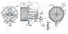 Вентилятор салона Ауди A5 / AUDI A5 (2007-)