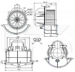Вентилятор салона PORSCHE CAYENNE / PORSCHE CAYENNE