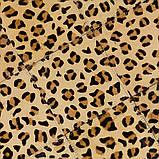 Прямоугольный ковер крашенный под леопарда из шкуры коровы, фото 4