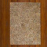 Прямоугольный ковер крашенный под леопарда из шкуры коровы, фото 3