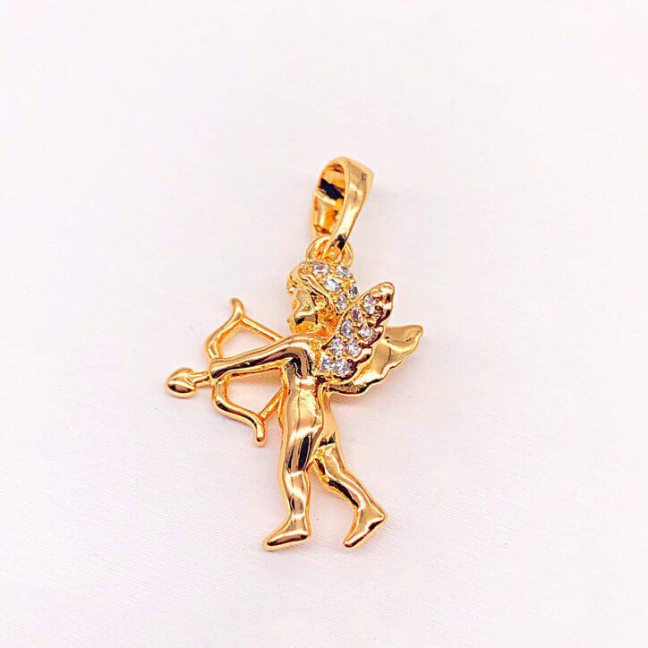 """Кулон Xuping Jewelry """"Амурчик"""" медицинское золото, позолота 18К. А/В 4217"""