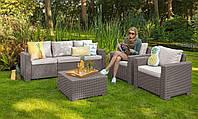 Keter California 3 Seater Set садовая мебель из искусственного ротанга, фото 1