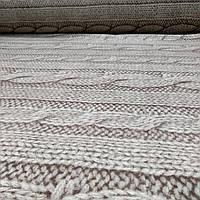 Фланель 'вязанка бежевая' 100% хб для постели 220 см., фото 1