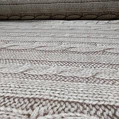 Фланель 'вязанка бежевая' 100% хб для постели 220 см.