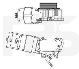 Масляный радиатор Ситроен C2 / CITROEN C2 (2003-2009)