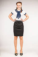 Юбка школьная с завышенной талией для девочки, размеры 36, 38, 40. (Ю-59)
