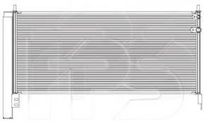 Радиатор кондиционера Тойота Аурис / TOYOTA AURIS (2013-)