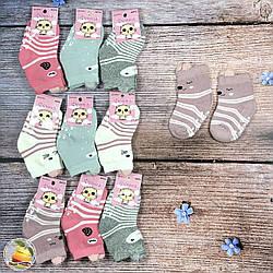 Махровые носочки с тормозами для малышей Размер: 0- 6 месяцев (9044-1)
