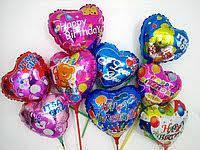 """Фольговані кульки з малюнком 18"""" (серця, зірки та кола)"""