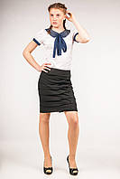 Юбка школьная на бедрах для девочки-подростка, размеры 36, 38, 40. (Ю-75)