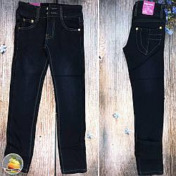Синие классические джинсы с флисом для девочек Размеры: 6,7,8,9,10 лет (9047)