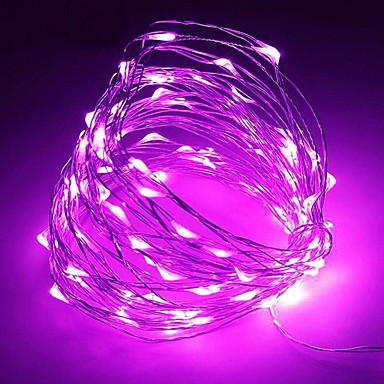 Светодиодная гирлянда LTL Капля росы длина 10м 100led Фиолетовая Purple батарейки