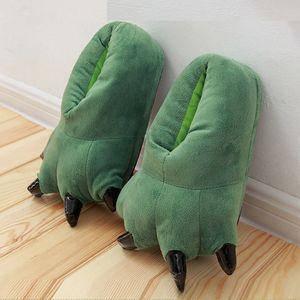 Плюшевые тапочки Кигуруми Лапы (Green), фото 2