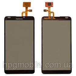 Сенсорный экран для Nokia E7-00, черный, оригинал