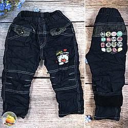 Теплі джинси з флісом темно синього кольору Розміри: 1,2,3,4 року (9049-2)