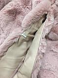 Жилетка из меха кролика рекс (искусственная) розовая, фото 4