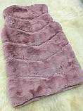 Жилетка из меха кролика рекс (искусственная) розовая, фото 2