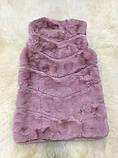 Жилетка из меха кролика рекс (искусственная) розовая, фото 7