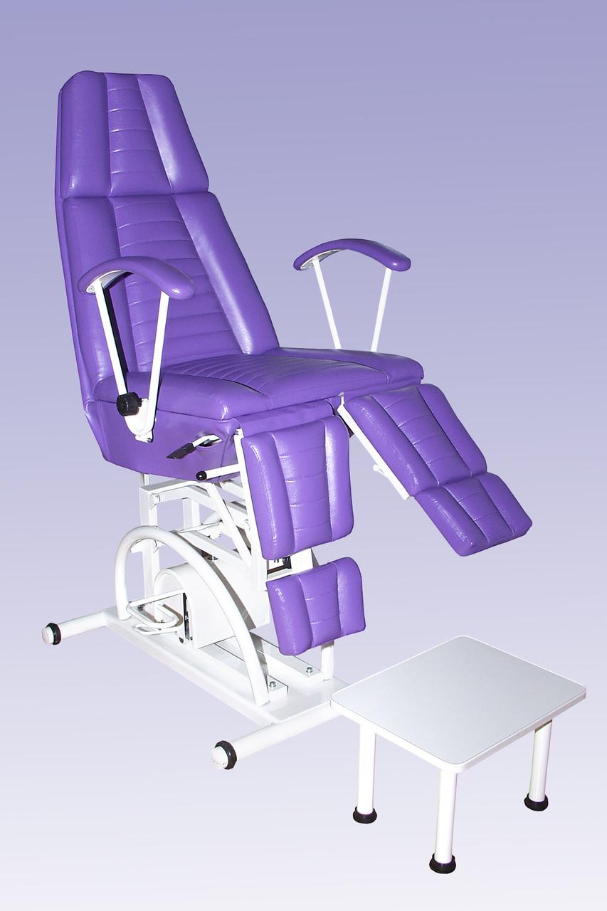 Крісло подолог Педикюрне - косметологічне крісло на гідравліці з роздільною підніжкою КП-3