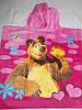 Полотенце-пончо с капюшоном Маша и Медведь, фото 2