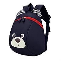 Детский рюкзак мишка с ремешком и анти-потерянным ремнем Темно-синий (gab_krp220AAQi66689)