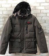 "Куртка зимняя мужская ""Supre"" размер норма от 46до 54,темно-серого цвета"