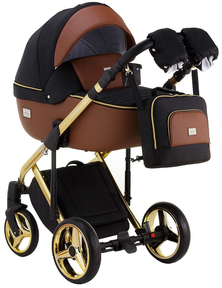 Детская универсальная коляска 2 в 1 Adamex Luciano Polar Gold Y800