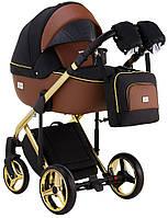 Детская универсальная коляска 2 в 1 Adamex Luciano Polar Gold Y800, фото 1