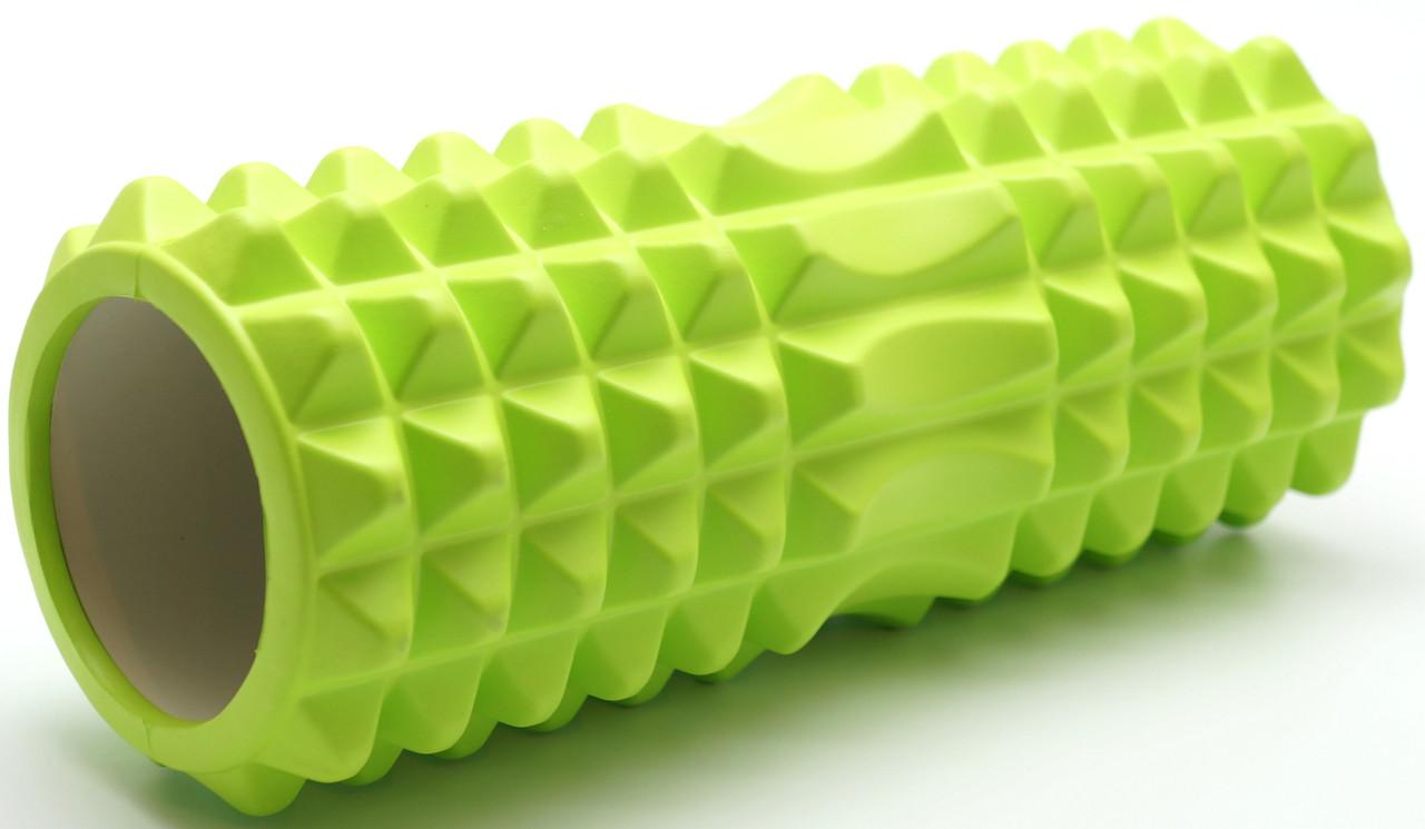 Масажний валик (ролик) Зелений (33 х14 см) - MS 0857-4