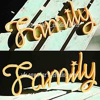 """Декоративная табличка """"Family"""""""