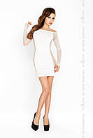 Короткое мини платье BS025 white S-XL - Passion