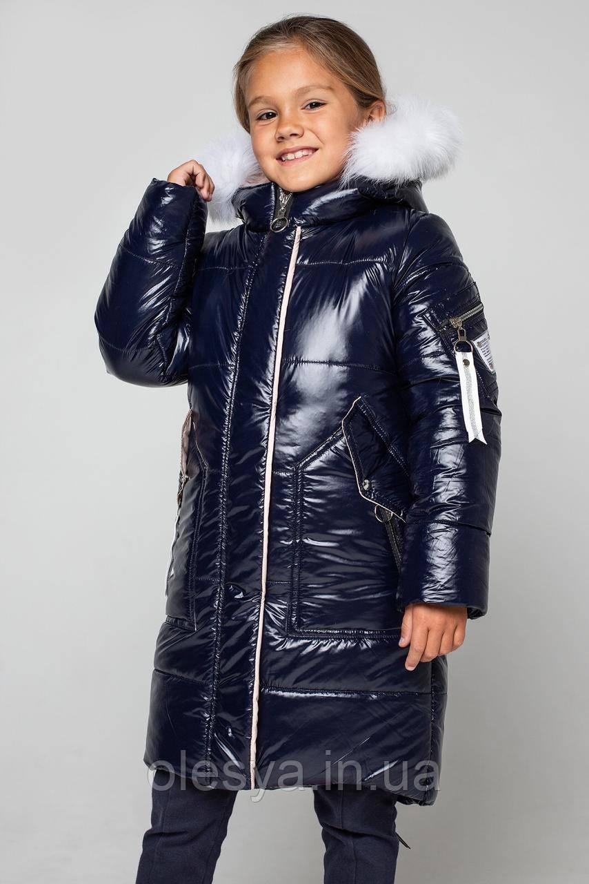 Пальто детское зимнее на девочку Альбина Размеры 122- 164