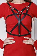 Портупея сердечко з смужками на груди