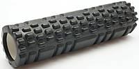 Массажный валик (ролик) для йоги / Черный / 29х8 см. - MS 1836