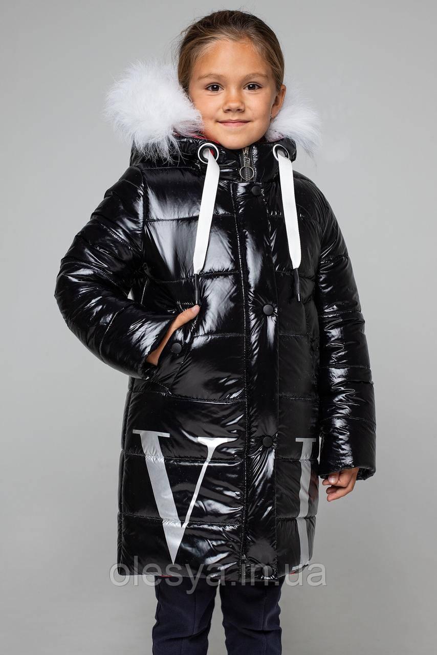 Пальто детское зимнее, пуховик на девочку Валентина Размеры 122- 164
