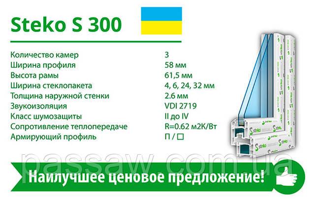 Steko S300 Наилучшее ценовое решение Профильная система с отличными эксплуатационными характеристиками.