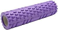 Массажный валик (ролик) для йоги / Фиолетовый/ 29х8 см. - MS 1836