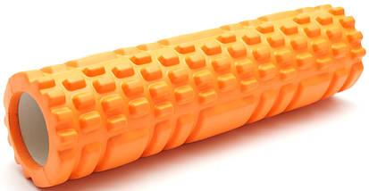 Массажный валик (ролик) для йоги / Фиолетовый/ 29х10 см. - MS 1836, фото 2