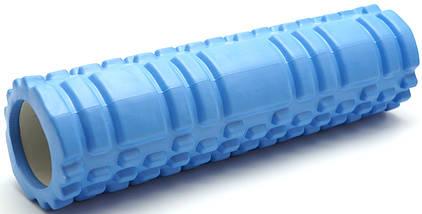 Массажный валик (ролик) для йоги / Голубой/ 29х8 см. - MS 1836, фото 2